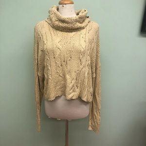 Free People Crop Sweater: Shades of Dawn (PM1863)
